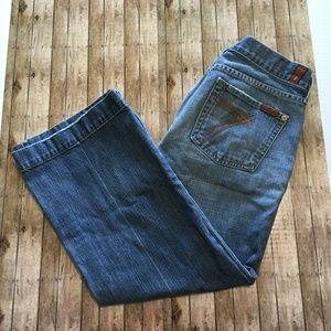 7 for all Mankind Dojo wide leg jeans sz 29